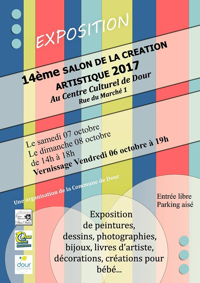 Salon de la creation artistique 2017 dour commerces et for Salon formation artistique