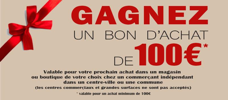 Concours Gratuit – Gagnez un bon d'achat de 100€